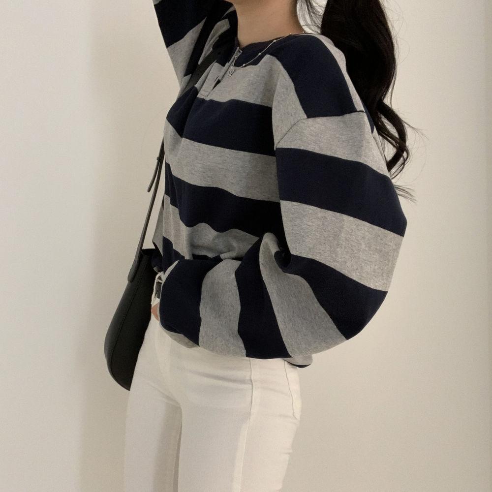 Striped Over Sweatshirt