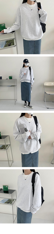 V-Neck Boxy-fit t Sweatshirt