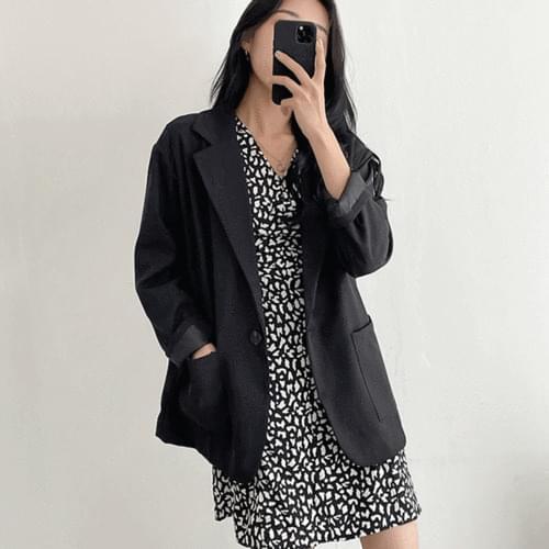 Boxy-fit Daily Basic Blazer Jacket 2color