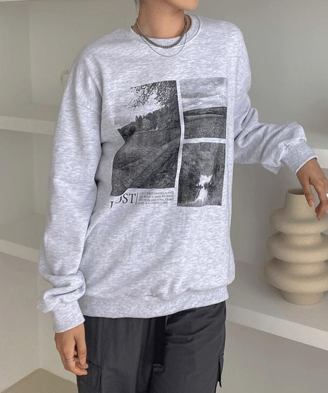 Lauden Print Overfit Juri Sweatshirt