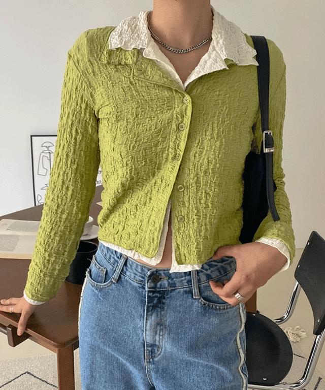Reel wrinkled collar blouse