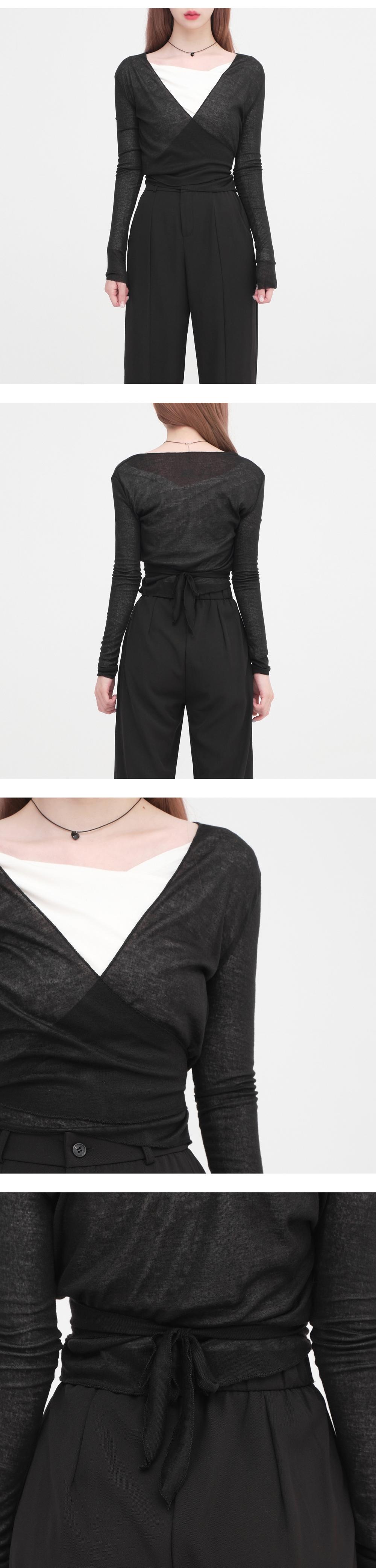 choi strap cropped T-shirt