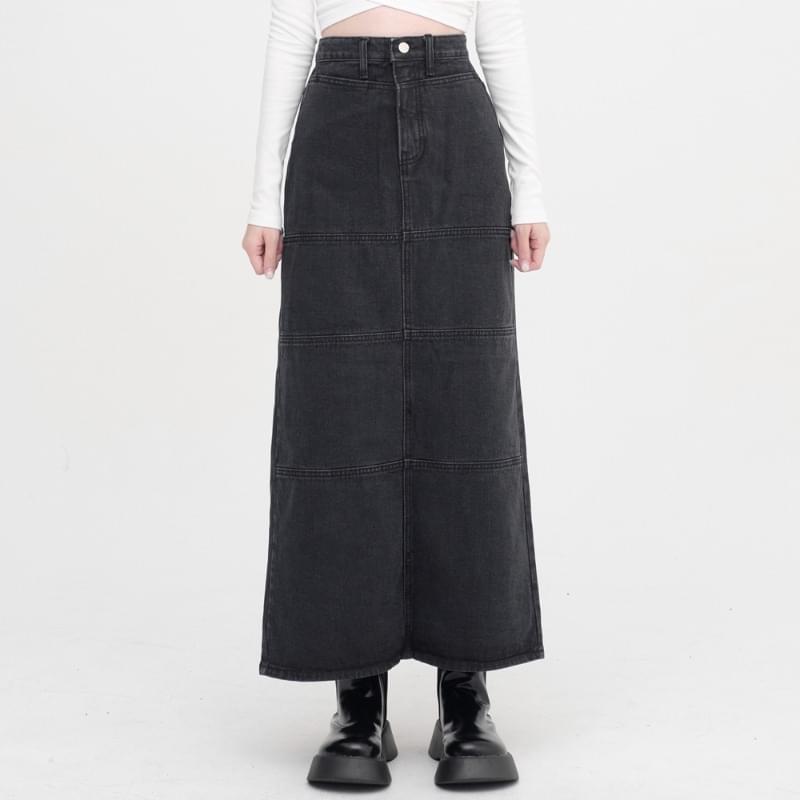 Loha Slit Denim Long Skirt