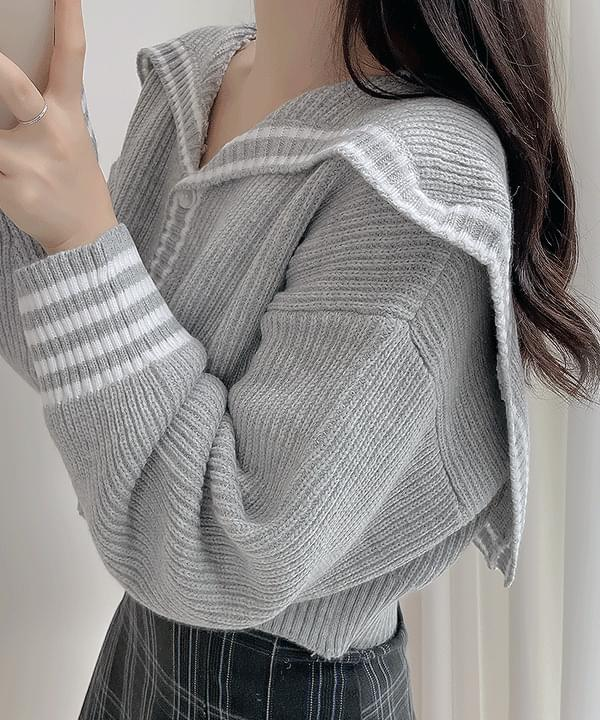 Judy Sailor Hachi Knitwear Cardigan 3color