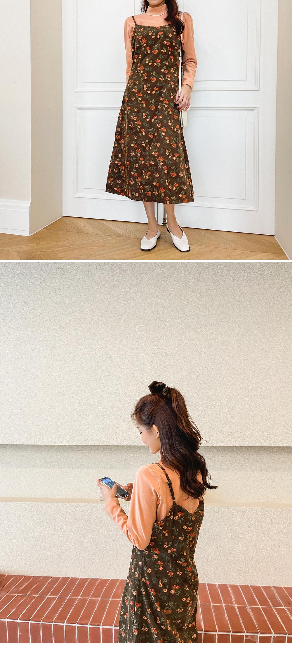 Big Size 66-120 Blend Vintage Golden Flower Bustier Long Dress