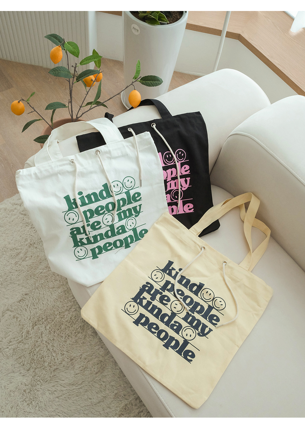 Kinder Daily Canvas Print Eco Bag