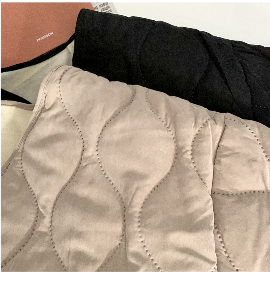 Oh Buffett compression waves Fleece-lined quilted Jacket kkalkkalyi 2color