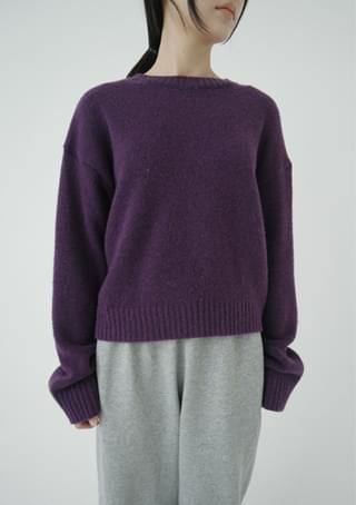 rainbow basic knit top