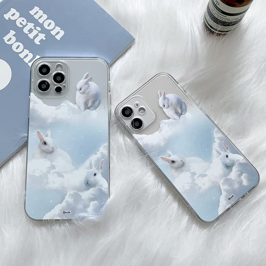 White Cloud Real Rabbit iPhone Case
