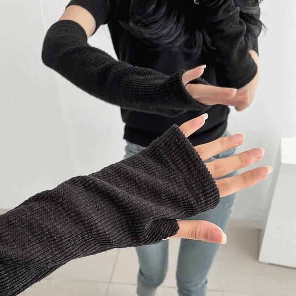 Thick Finger Knitwear Hand Long Warmer Arm Tossie
