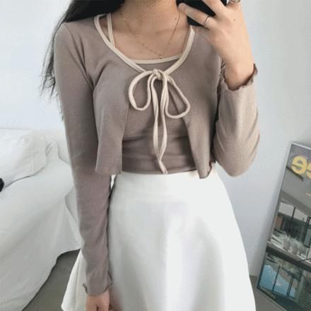 Soft Sleeveless + Cardigan Set