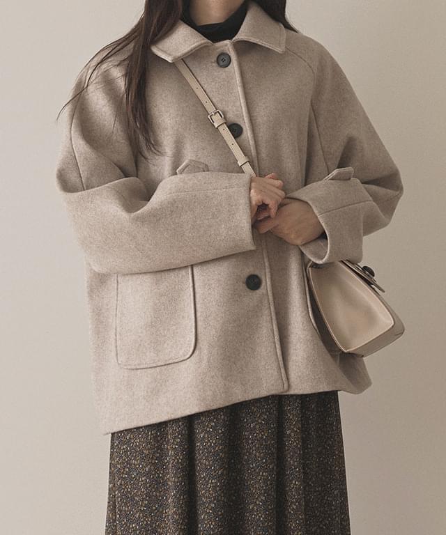round collar single jacket