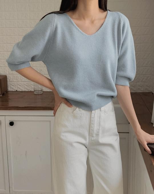 V-Neck Part 7 V-Neck Puff Knitwear - 5 color