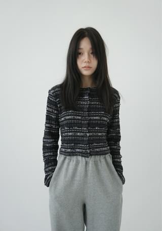 verve crop knit cardigan