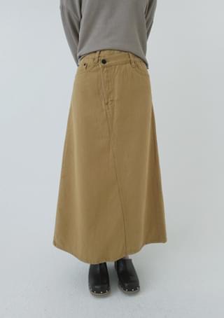 mustard twisting skirt