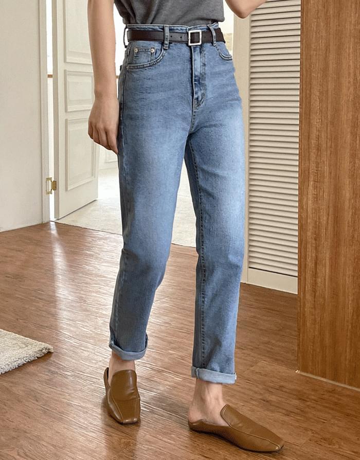 Vintage Slim Denim Pants