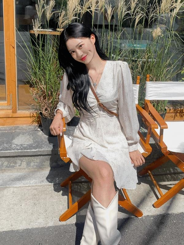 freesia shirring Dress
