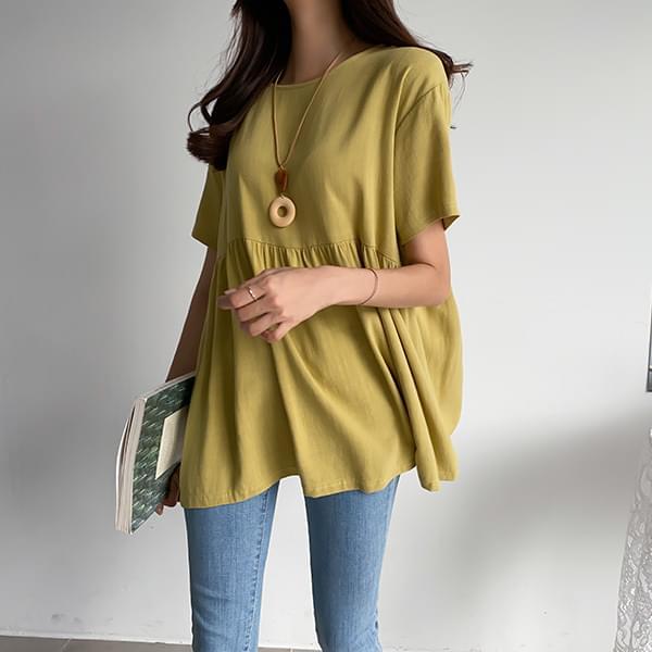 Summer Linen Shirring Blouse #47740