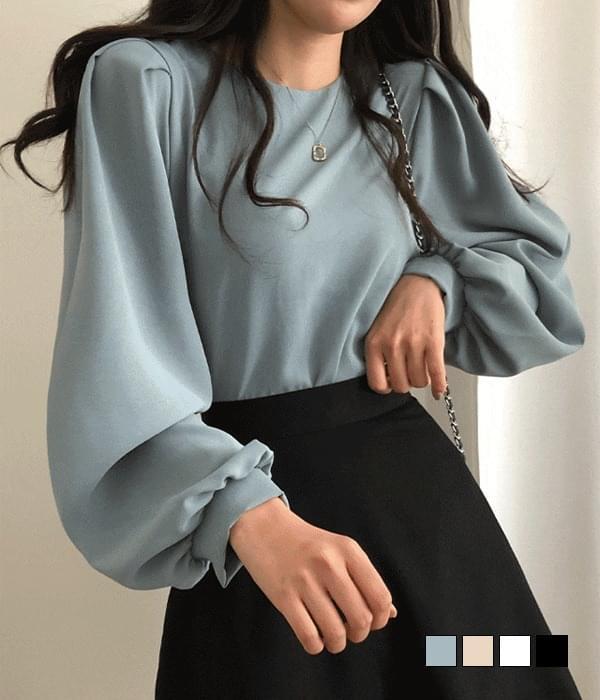 Casting puff plain blouse