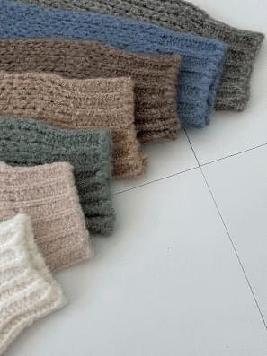 Wool Alpaca Lip Neck Net Knitwear