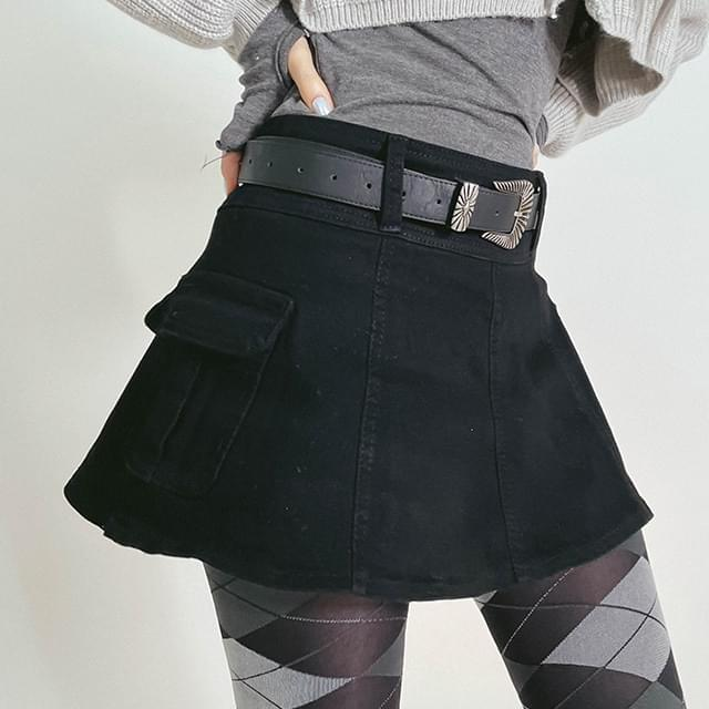 cargo custom mini skirt