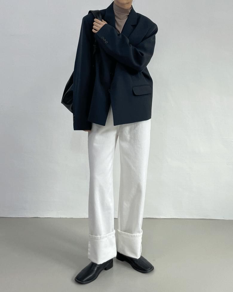 Flip 3-Button Overfit Short Jacket