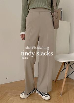 Teen Spandex Back Banding Wide Slacks Pants