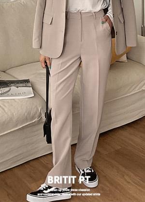 Brit It Two-Piece High Waist Straight Fit Slacks Pants