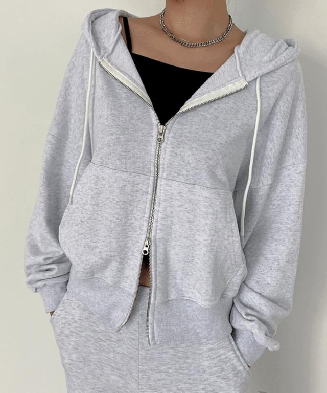 Mozbe training two-way hooded zip-up
