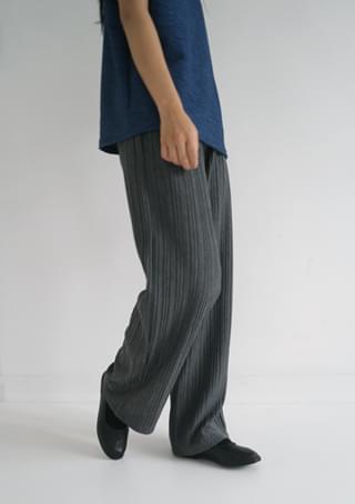 flow pleats banding pants