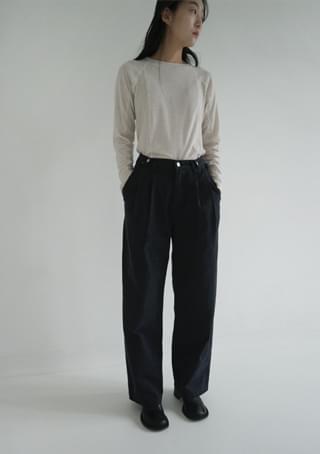 double pintuck cotton pants