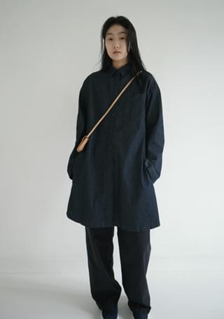 midi denim ops or coat