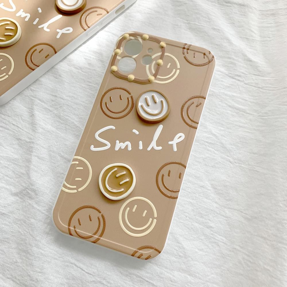 Cookie Brown Three-dimensional Smile iPhone Case