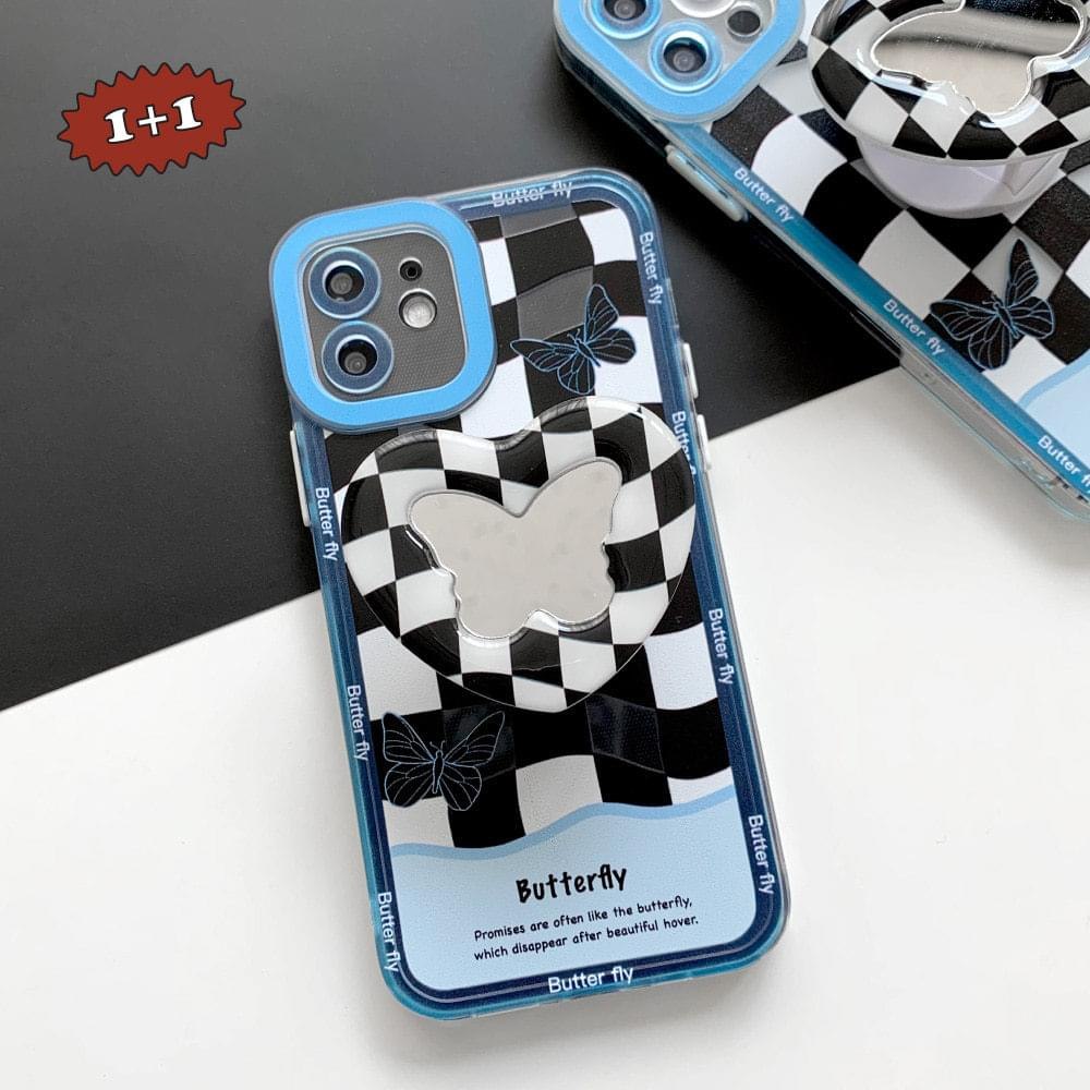 Butterfly Wave Checkerboard iPhone Case
