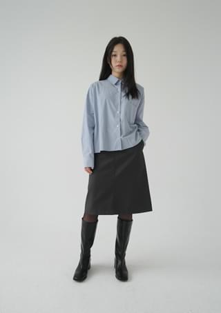 minimal sleek midi skirt