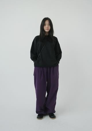 2-way corduroy wide pants