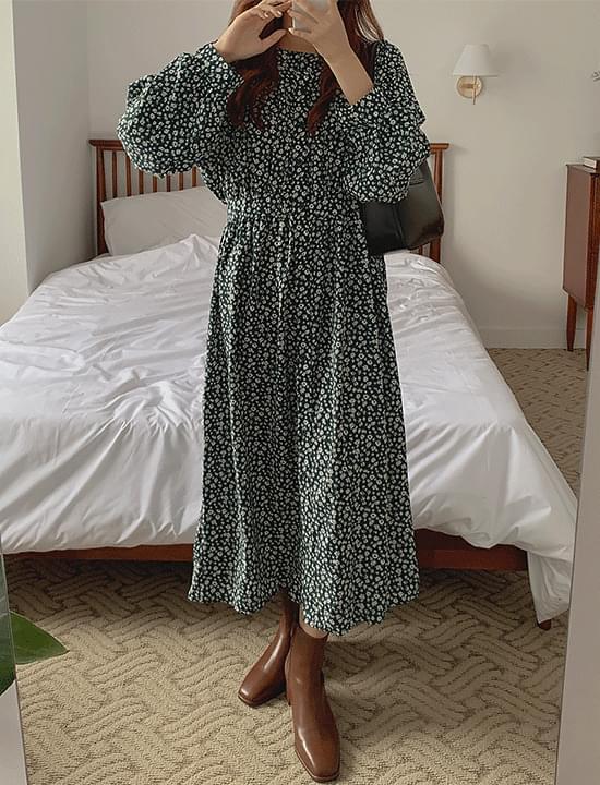 BC button chiffon Dress