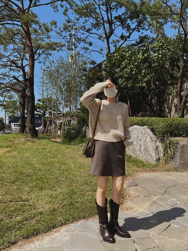 Mocha Pocket Mini Skirt - 2color