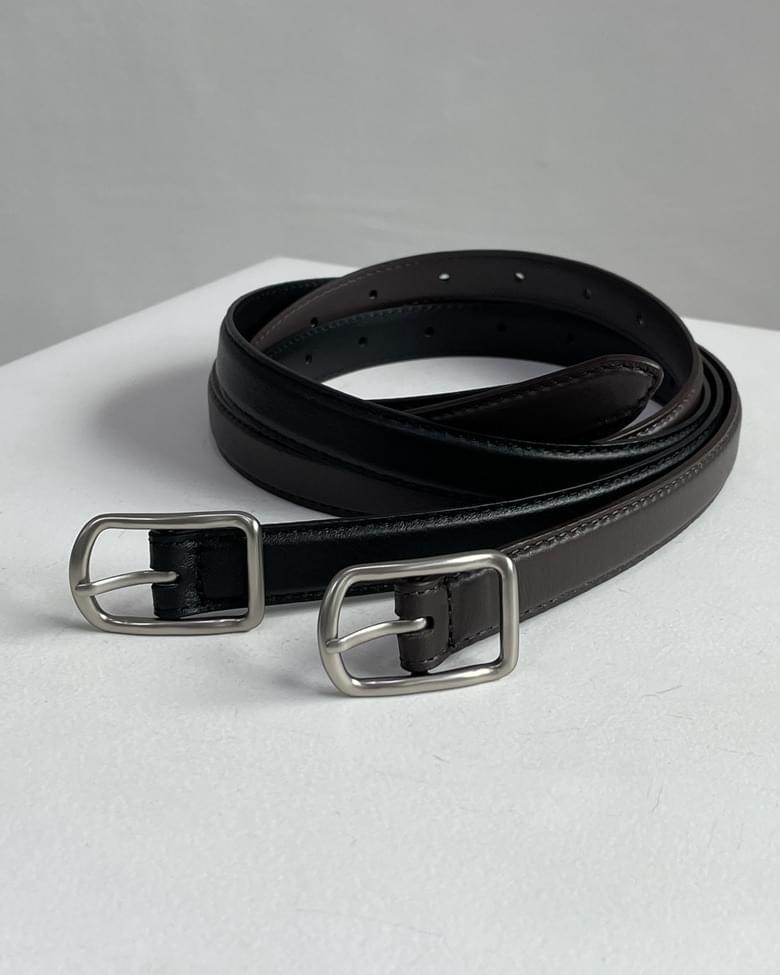 Volume Matte Buckle Cowhide Belt