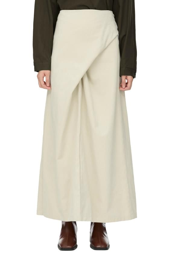 Peach Tie Long Skirt