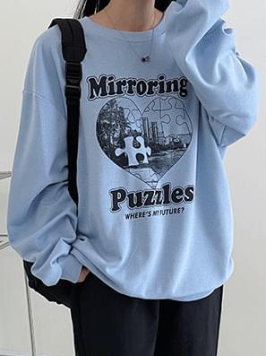 Mirroring puzzle Boxy-fit Sweatshirt