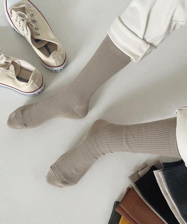 Ttingkeu Ribbed color Socks
