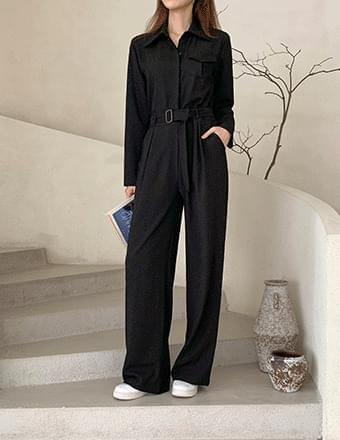 Tall Woman Vol.58* Pocket Jumpsuit