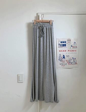 Rocella* Ribbed Maxi Long Skirt