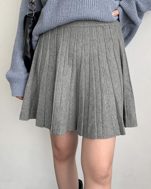 Sobon Knitwear Pleated Skirt