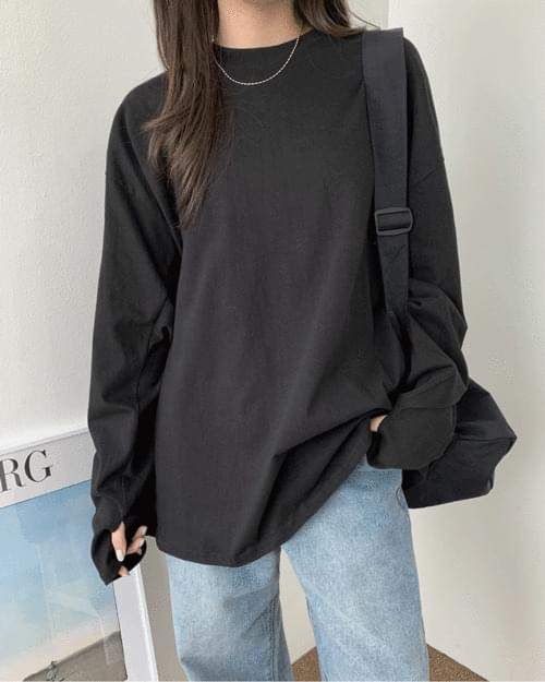 Enzo overfit plain warmer T-shirt