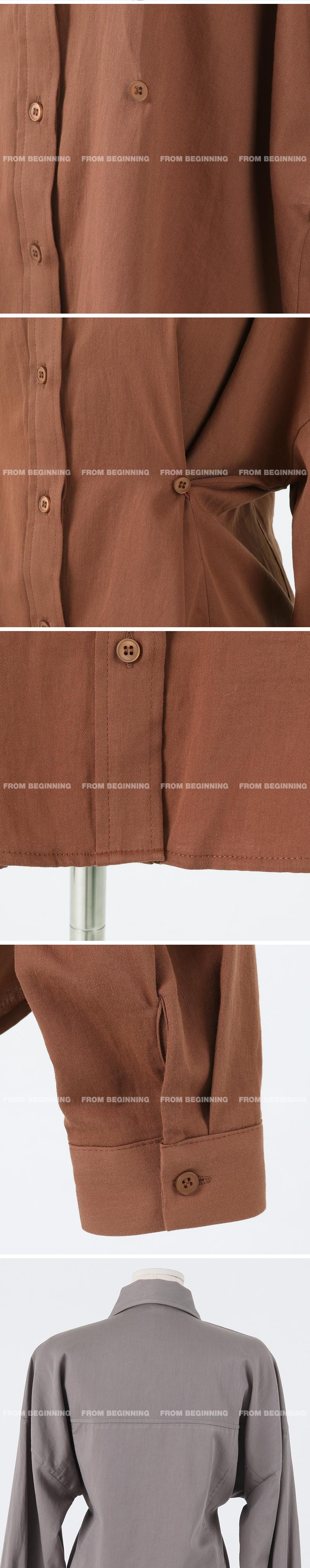 투웨이 버튼코튼셔츠 (3color)
