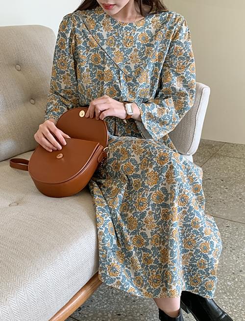 Dandelion Cotton Puff Long Dress