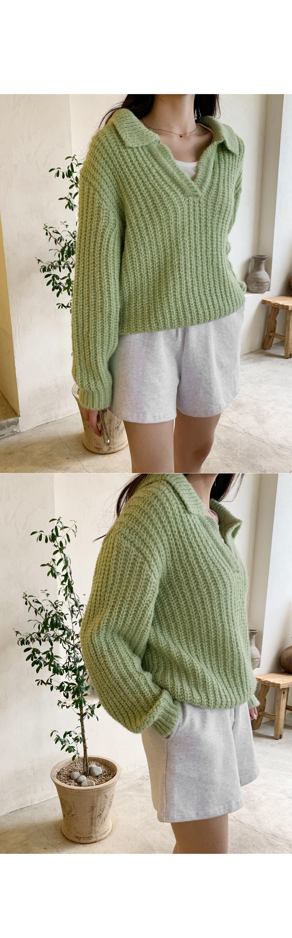 Fogny Wool Collar Knitwear