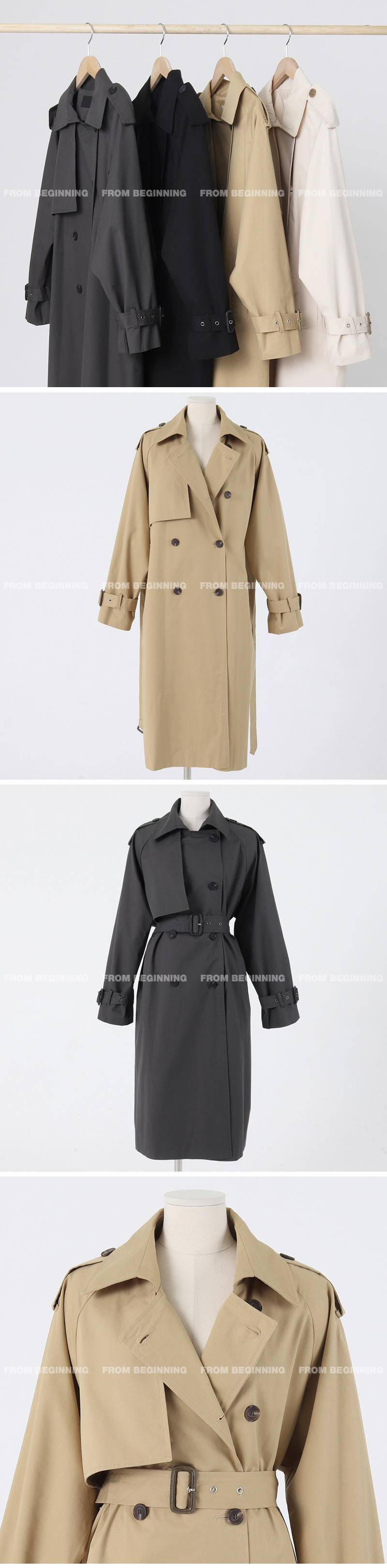 Classic Cotton Trench Long Coat